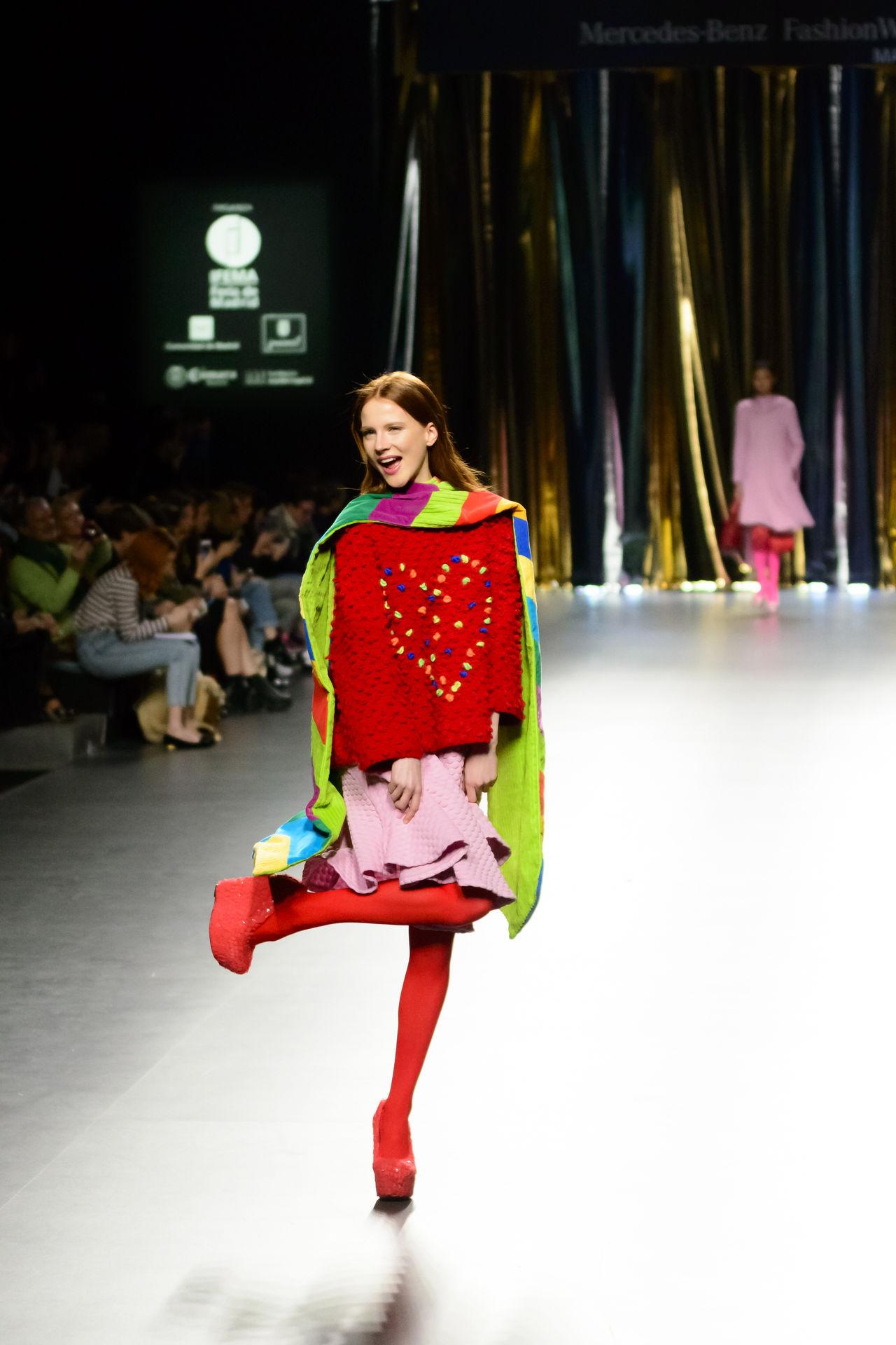 Agatha Ruiz De La Prada - Merecedes benz Fashion Week Madrid 2016 - Autumn-Winter 2016-2017. Catwalk Clothes Editorial  Fashion Fashion Show Fashion Week Full Length Lifestyles Mbfw Mbfw2016 Mercedes Benz Fashion Week Models Real People Woman Women Young Adult Young Women