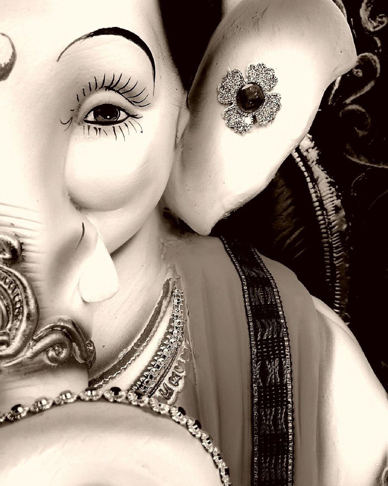 Close-up Indoors  Eyelash Day God God's Beauty Ganapati Ganapati Bappa Morya....! Ganapatibappamorya Ganapathy Ganapathibappamoreya GanapatiBappa LoveGod Faith Ganapathi-bhappa-mouriya Ganpati Festival Ganaptibappamorya Ganapati Bappa Mooraya GanapatiBappaMoriya EmNewHere Sculpture Blqckandwhite