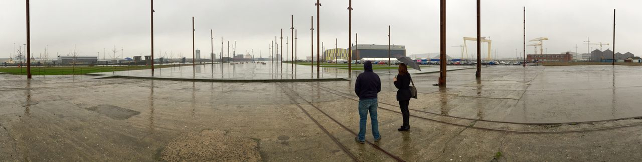 Belfast Cloud - Sky Dock Harbor Rain Ship Building Titanic Titanic Quarter