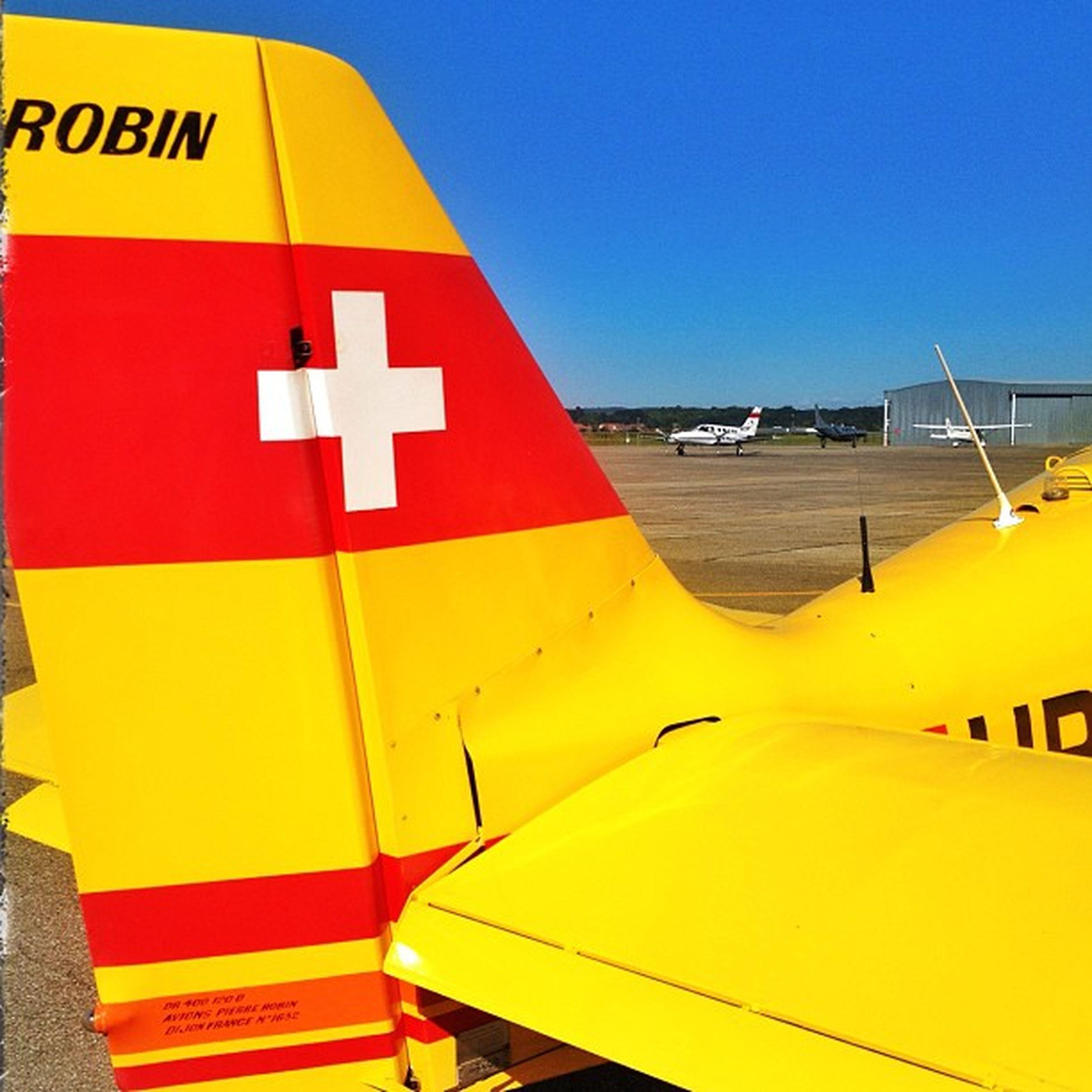 Beflügelnder Ausblick in Basel Lfsb auf die Robin HB-POC