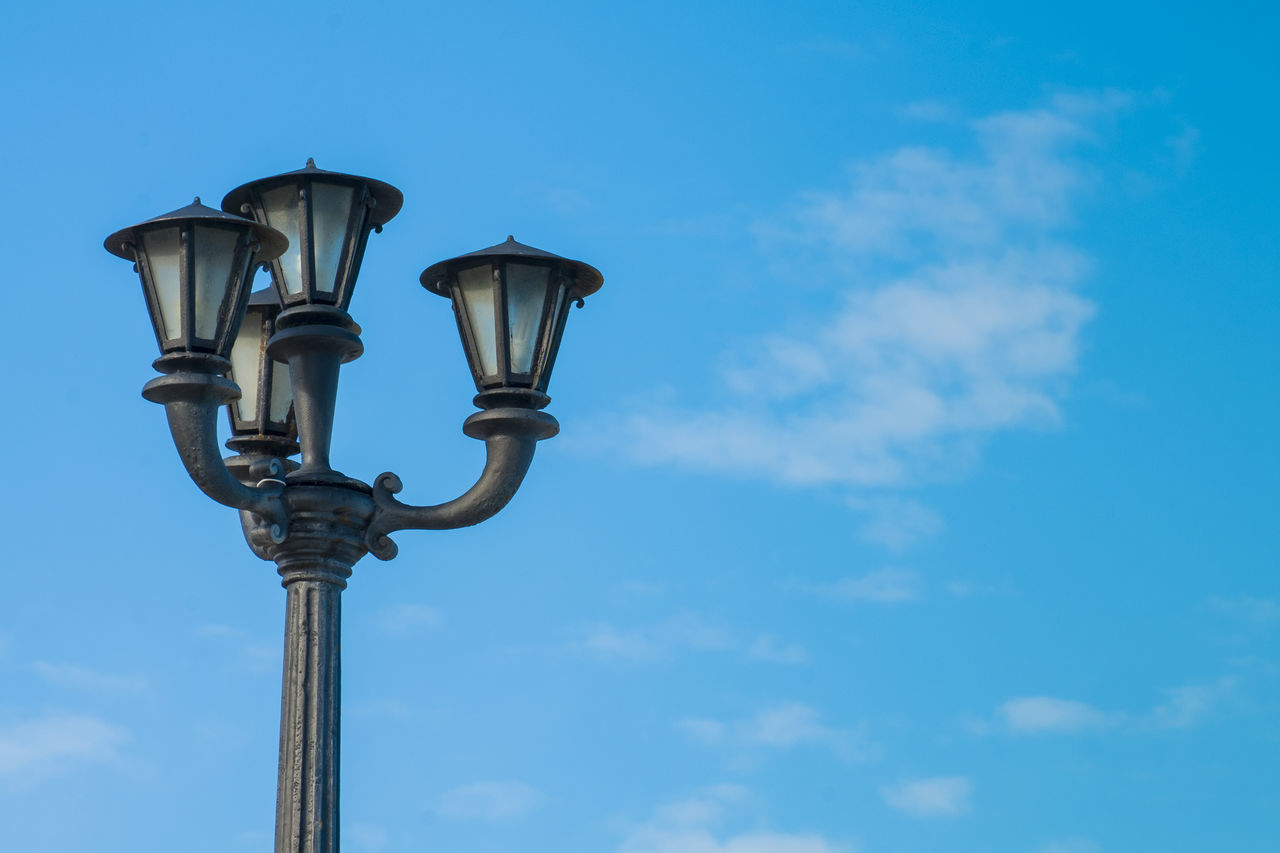 Architecture Blue Clear Sky Day Lighting Equipment Low Angle View Nature No People Outdoors Sky Street Lamp Street Light