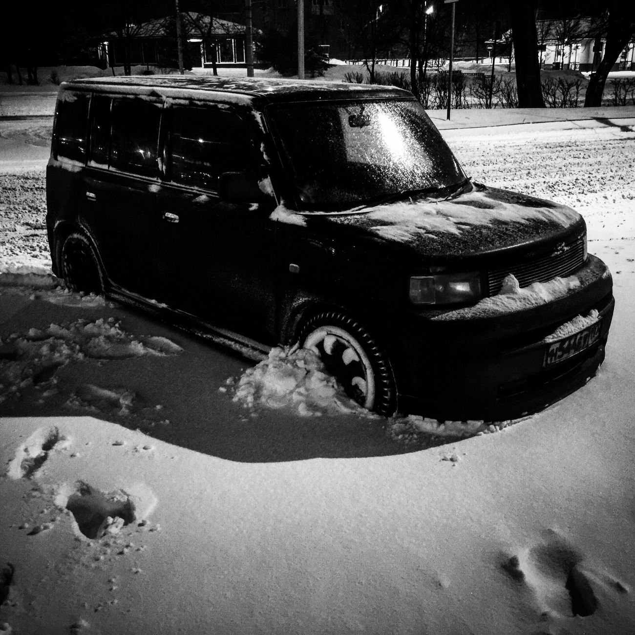 Car Transportation Abandoned Land Vehicle Outdoors Mode Of Transport Snow Toyota Toyota BB IPhoneography Shotoniphone6plus Watcharound No People Close-up