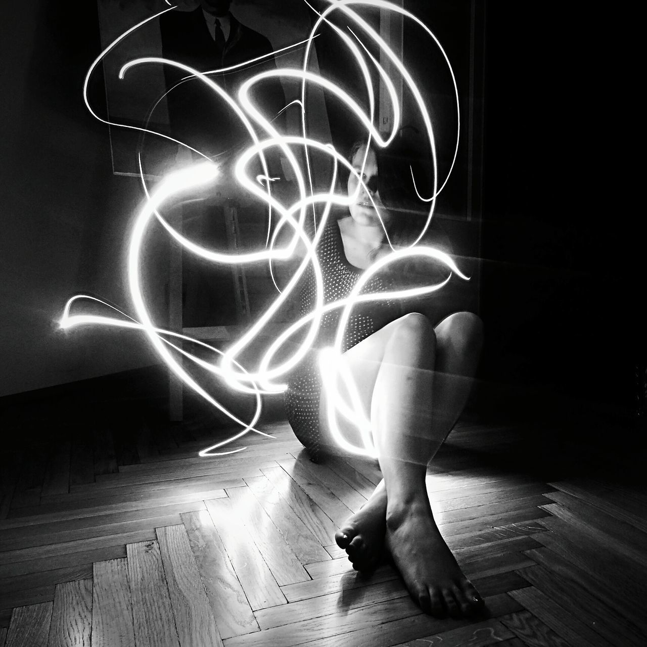 Black And White Light And Shadow Light Slow Shutter People Bestfriend Woman People