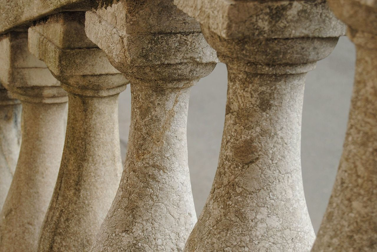 architectural column, in a row, architecture, no people, strength, built structure, outdoors, ancient, day, nature, close-up, ancient civilization