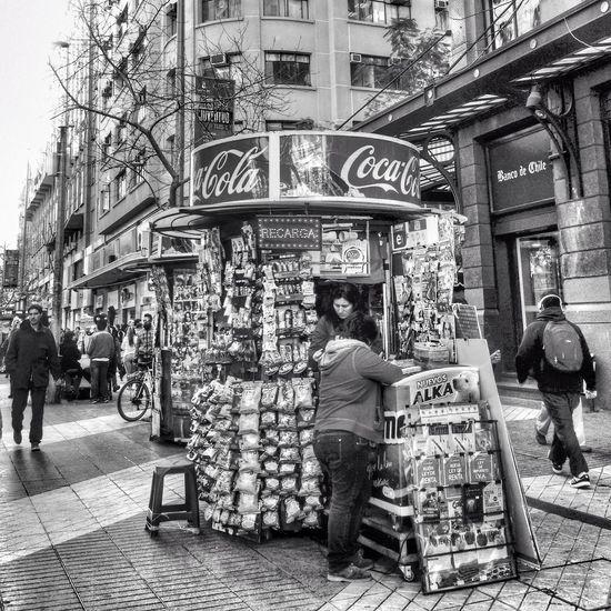 Santiago De Chile Streetphoto_bw Bw_ Collection Blackandwhite
