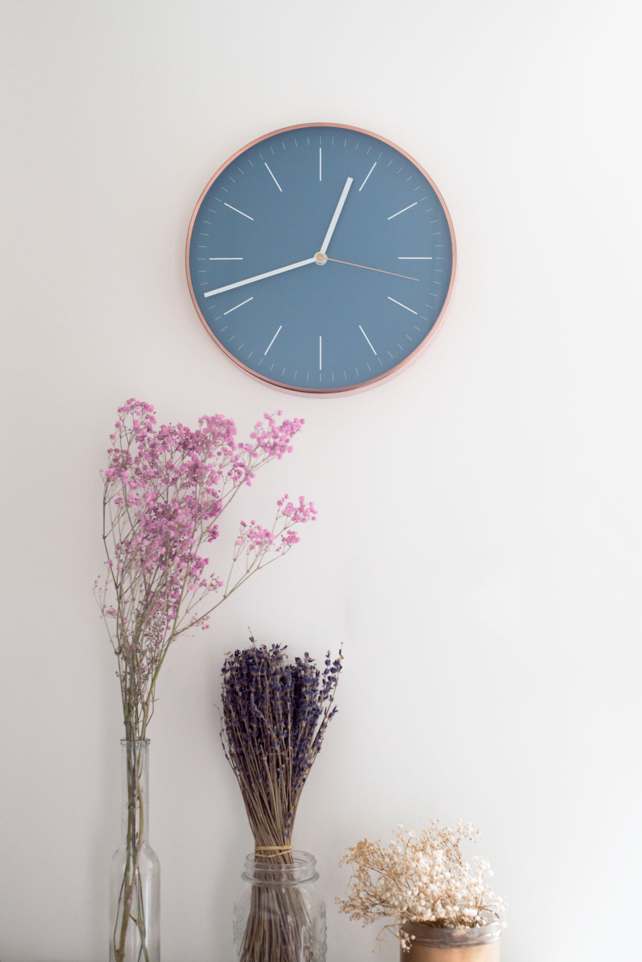 In love with my new noiseless kitchen clock <3 Clock Clock Face Copper  Day Flower Flower Head Hour Hand Indoors  Interior Interior Design Minute Hand No People Time White Background