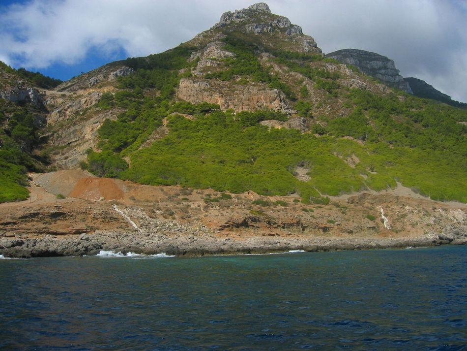 Cliff Day Geology Marettimo Island Mountain Nature Physical Geography Rock Formation Scenics Sea Sicily, Italy Landscape With Whitewall