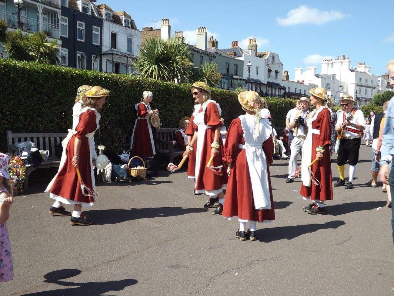 Morris dancers at Broadstairs folk week 2015 Folk Dance Morris Dancers