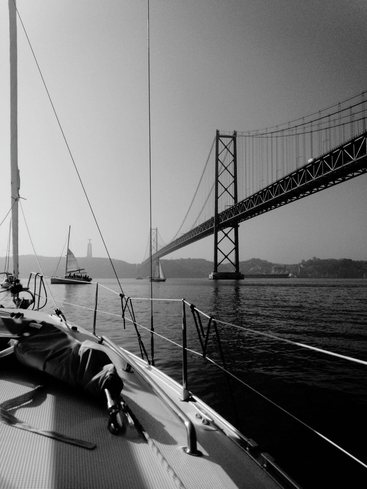 Lisbonbridge Lisbon Lisbon Statue Lisboa Portugal Boat View Boat Ride Boat On A Boat Bridge Almadaview