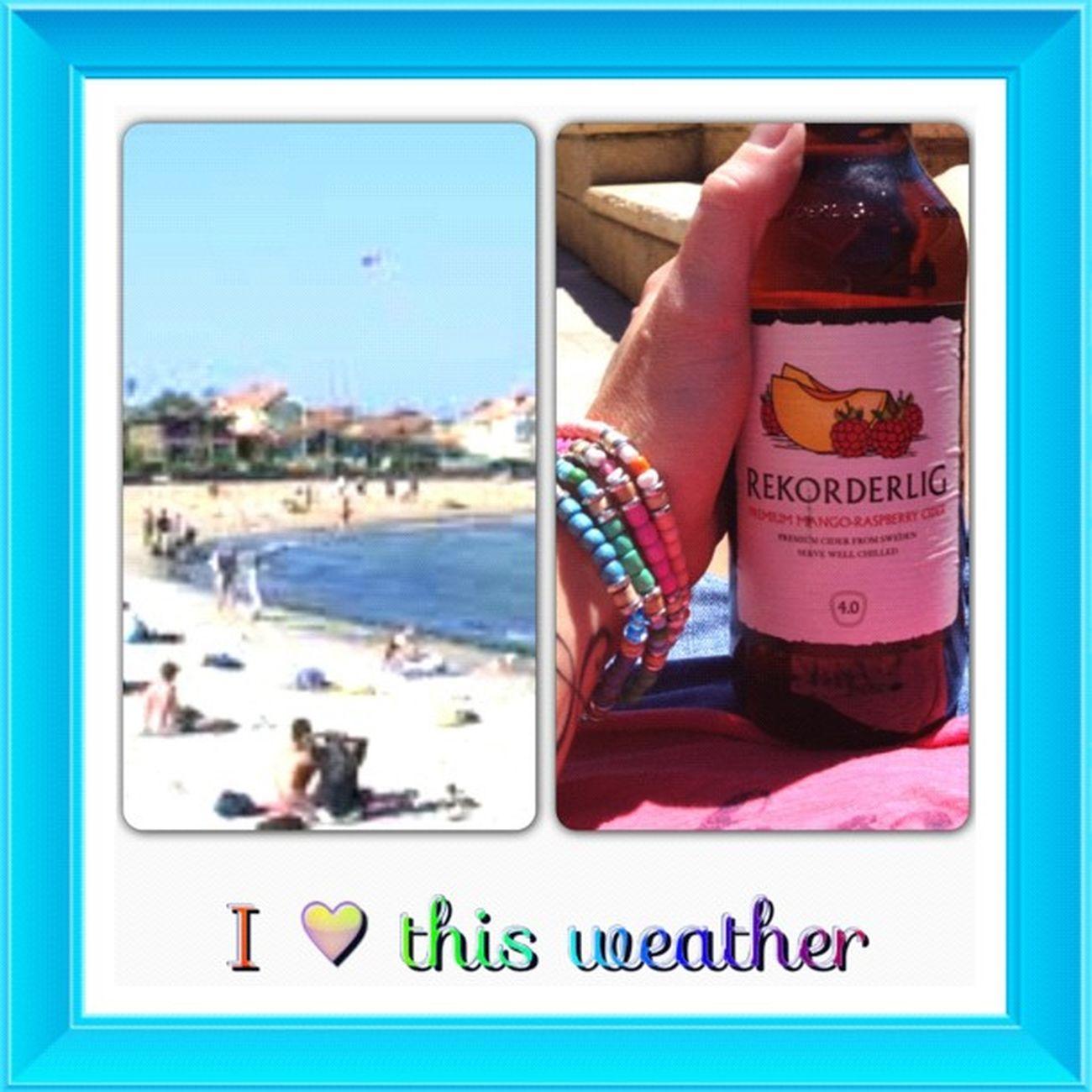 Loving this gorgeous day ? Sun Beach Rekorderlig LovingLife tan cant waitforsummer InstaFrame @InstaframeApp