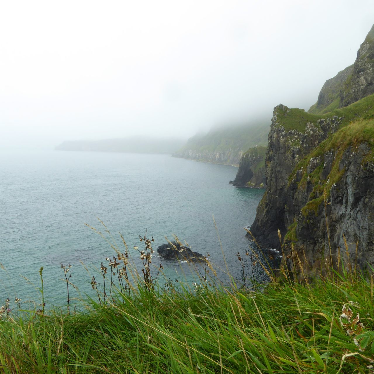 """The voice of the sea speaks to the soul."" Fog Nature Water Landscape Photographer Ireland Beauty Irish Landscape Cliffside Carrick-a-Rede Rope Bridge Northern Ireland Photography Photooftheday Sony A6000 Stunning View Capture Traveling Beauty In Nature Outdoors Wanderlust Sea Blue EyeEmNewHere"