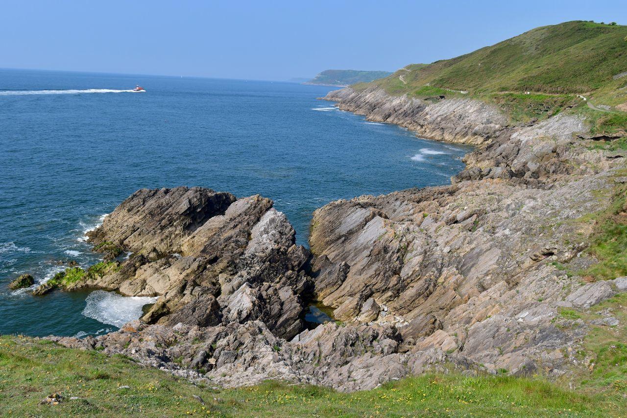 Taking Photos Greenery Rocks Seaview Boat Coastal Path Nikon D5500
