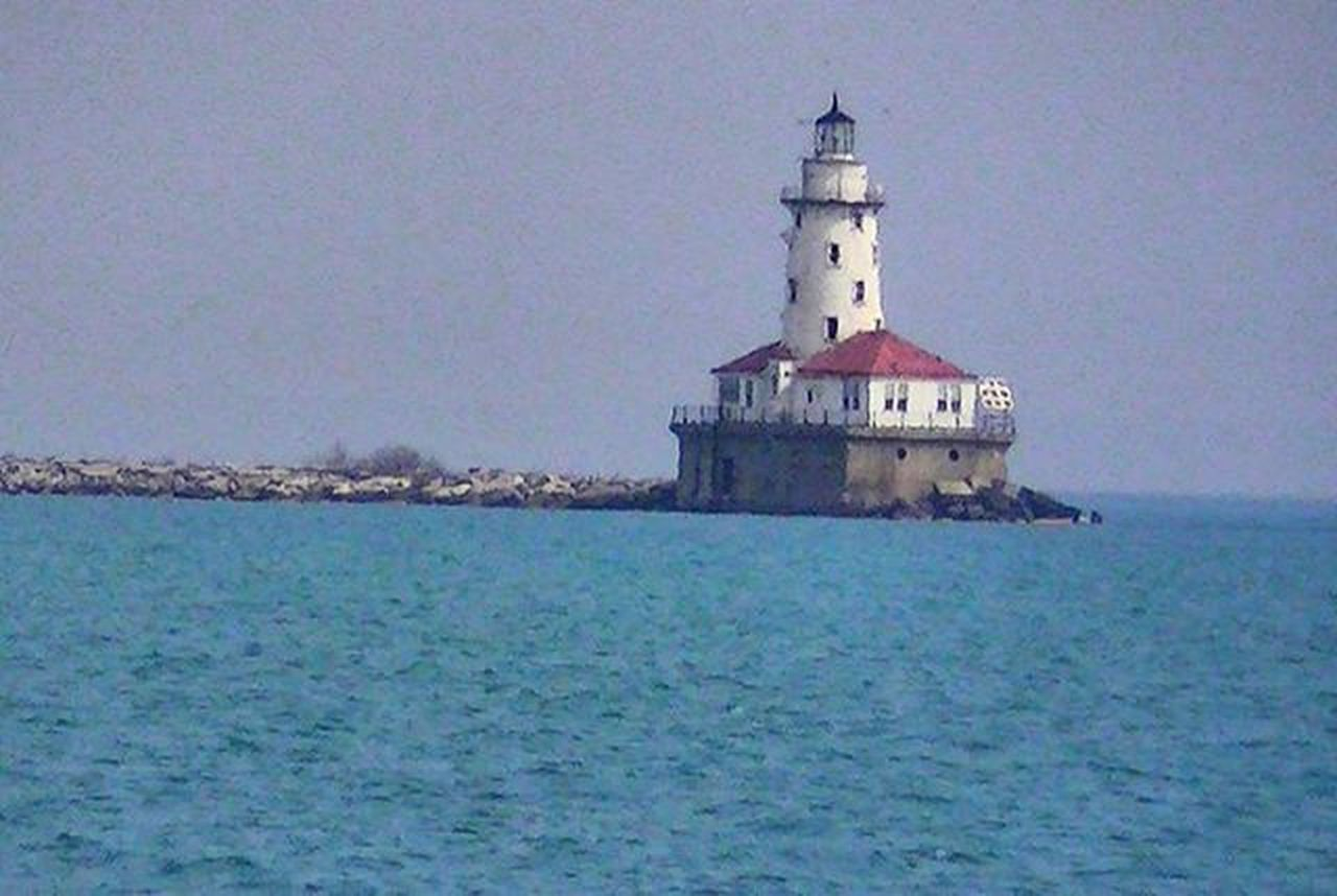 Lighthouse in the mid of Michigan Lake in Chicago Chicagosightings Chicagosightseeing Chicagocity Michiganlake Chicagowaterfront Waterfront Lakeshore Lakeshoredrive Mitchiganlake Lakemitchigan Lighthouses Lakes  Ig_captures