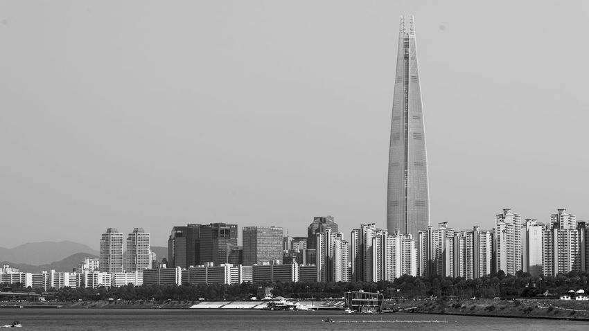 Architecture Black Black And White Black And White Photography Building City Cityscape Construction Han River Han River Park New Panarama Sky Urban White