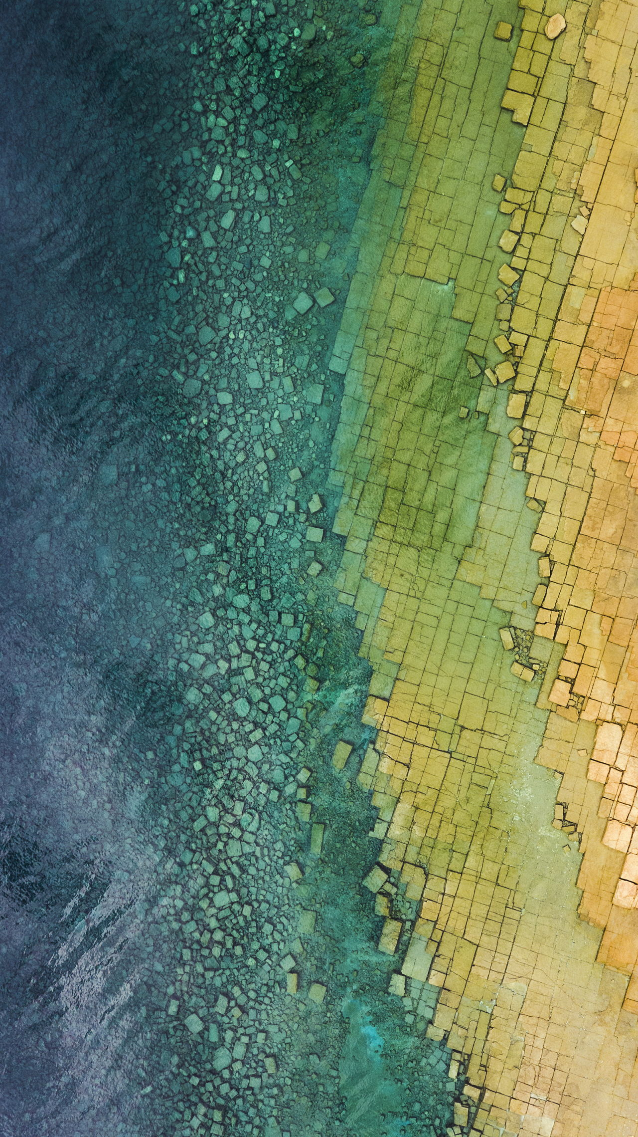 Aerial Crystal Blue Shoreline Great Lakes Huron Water_collection Drone  Green Color Beach Aerial View Outdoors Water Sea Geology Stone Square Rock Multi Colored Pattern Landscape Textured  Clear Scenics Tranquility The Great Outdoors - 2017 EyeEm Awards