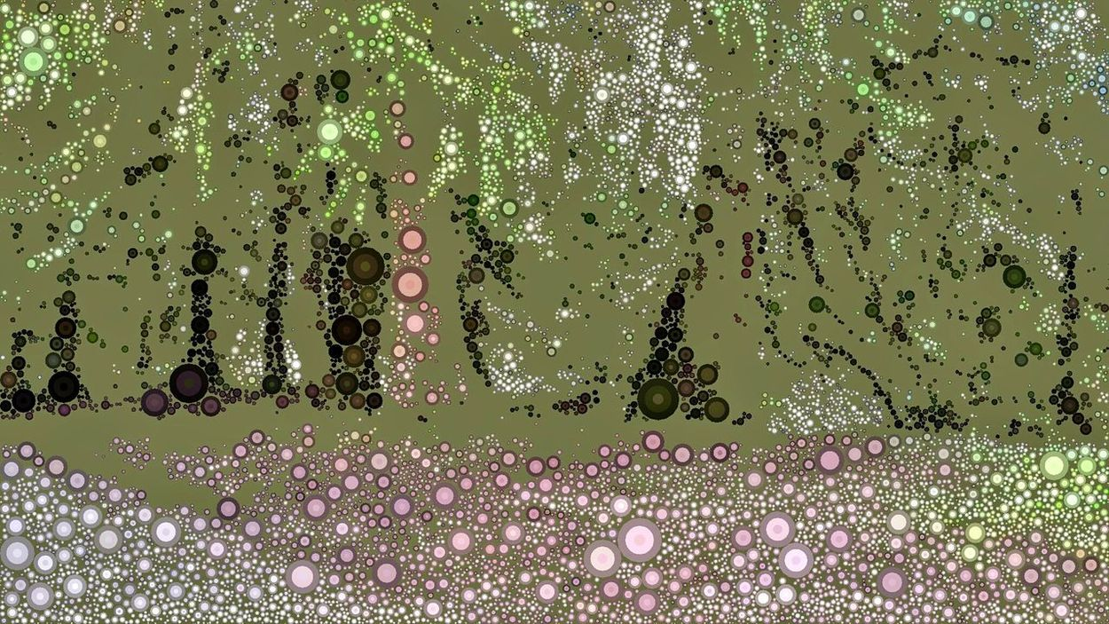 Mosaic Art Lab ArtWork Art Edit  Somass River Park Tree_collection  Treescollection Escaping Surreal Art Surreal View Point