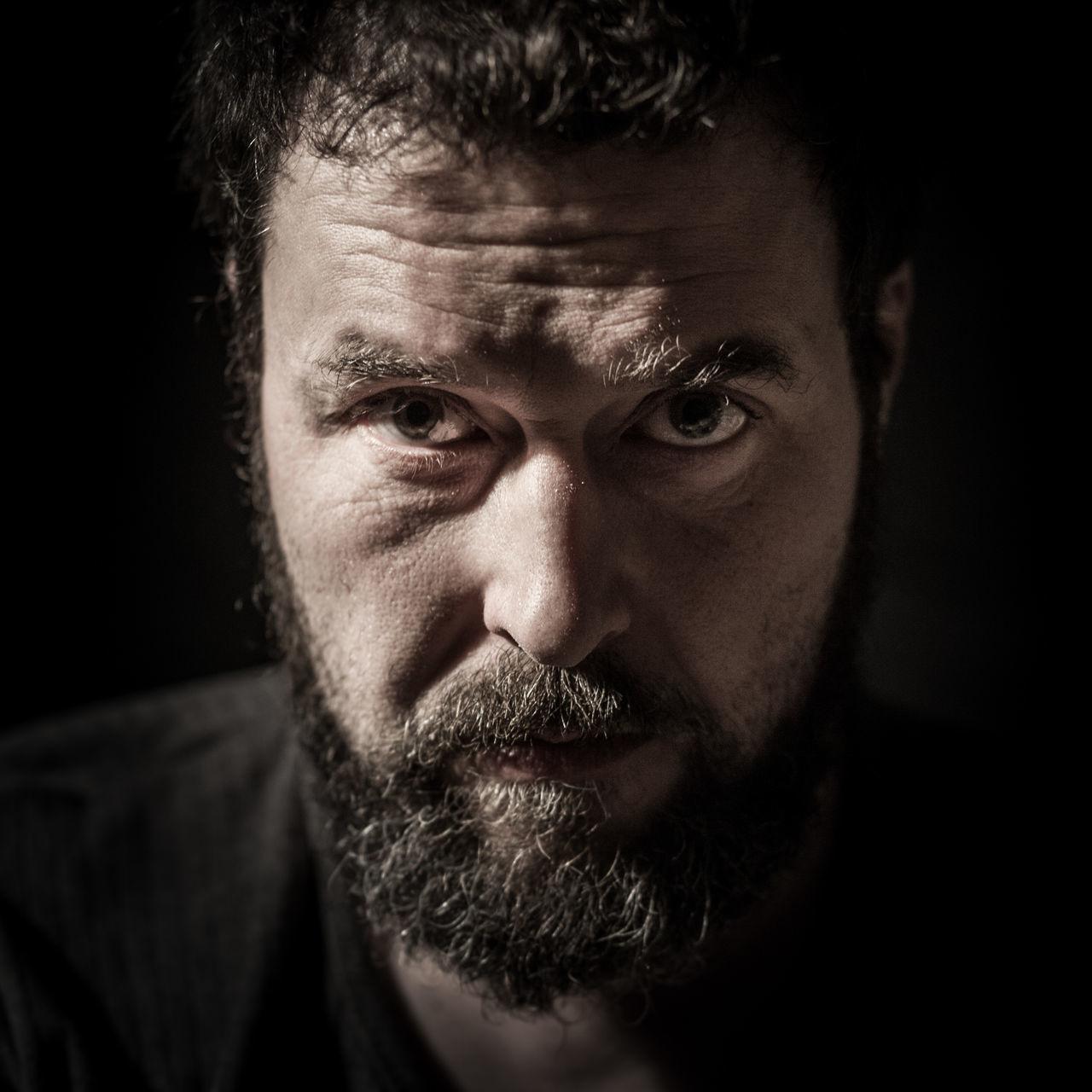 portrait Man beard age mature Raw rough