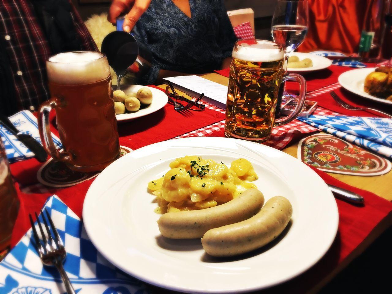 Food And Drink Plate Table Freshness Food Meal Indoors  Ready-to-eat Close-up Drink Refreshment Dinner Serving Size Indulgence Lunch Served Beverage Prepared Food Temptation Serving Dish Beer Wurst Weisswurst Bayern Germany