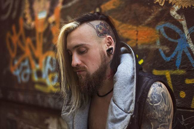 One of my favorite portraits, taken by Eugen Brodner 50mm Beard Bearded Died Graffiti Hair Headtattoo London Longhair Mandala Model Necktattoo Photo Photooftheday Picoftheday Plugs Portrait Shaved Head Side Shave  Sleeve  Street Clothes Tattooed Tattooedmen Tunnels Vest First Eyeem Photo