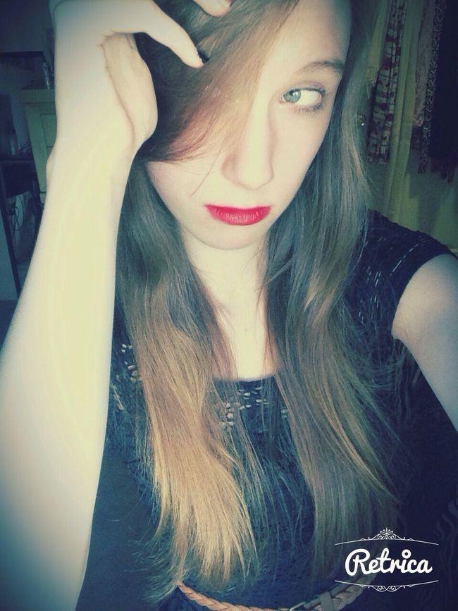 Awkward Pose  Pretty Red Black