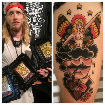 Give this guy a follow! @justintaylortattoo Took home a bunch of awards from the Dallas tattoo show this weekend