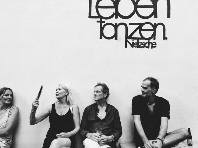 Leben | Tanzen. Nietzsche Wall - Building Feature Person Blackandwhite Photojournalism Eye4photography  Eyeemoninstagram Realphotography Minimalism Shootermag Vscocam VSCO