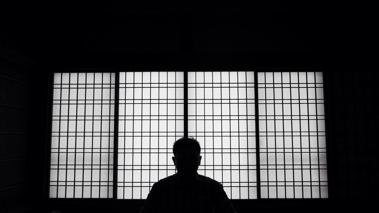 Beautiful stock photos of silhouette, Dark, Day, Head And Shoulders, Indoors