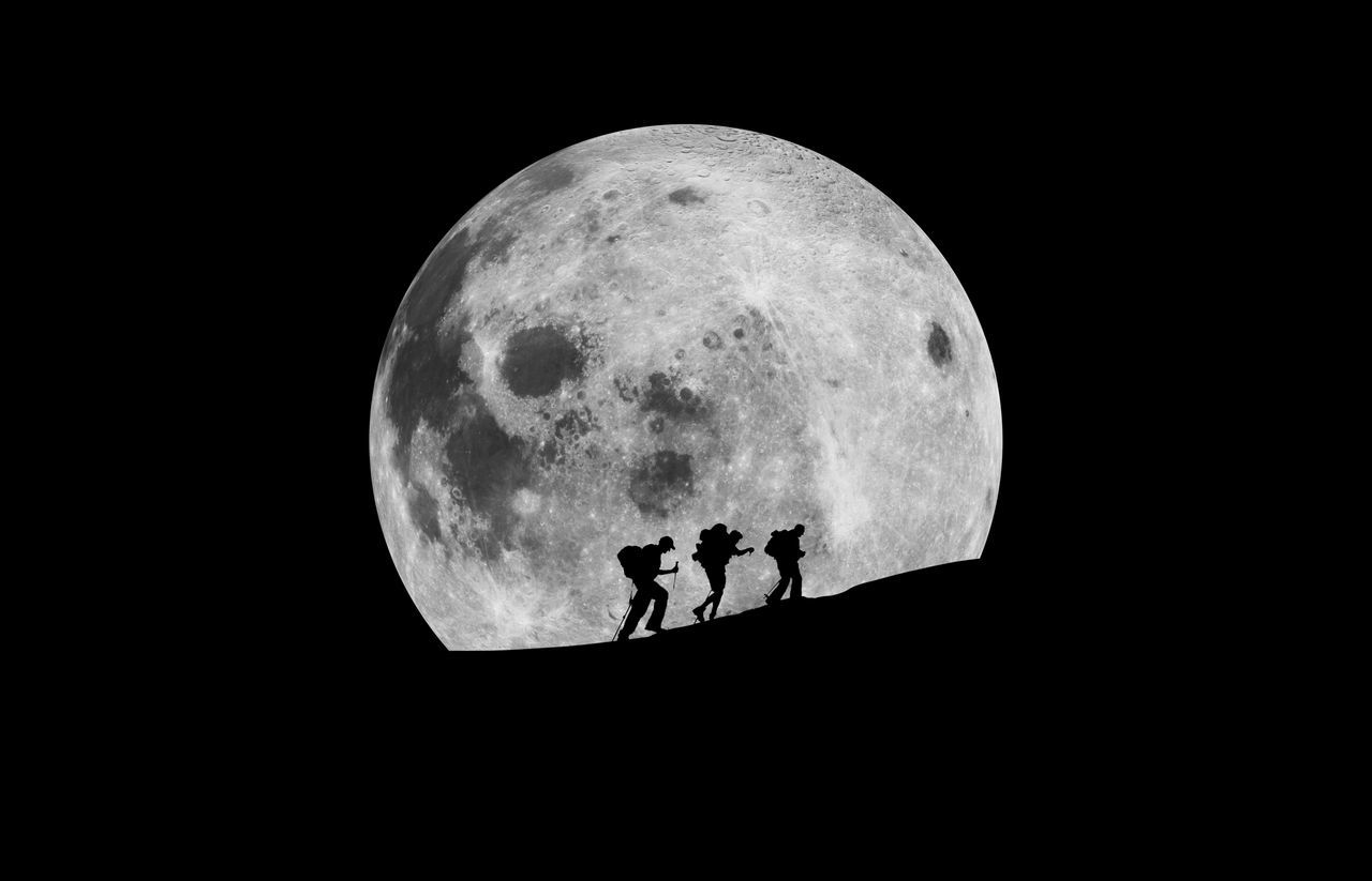 Beautiful stock photos of full moon, Adventure, Astronomy, Backpack, Beauty In Nature
