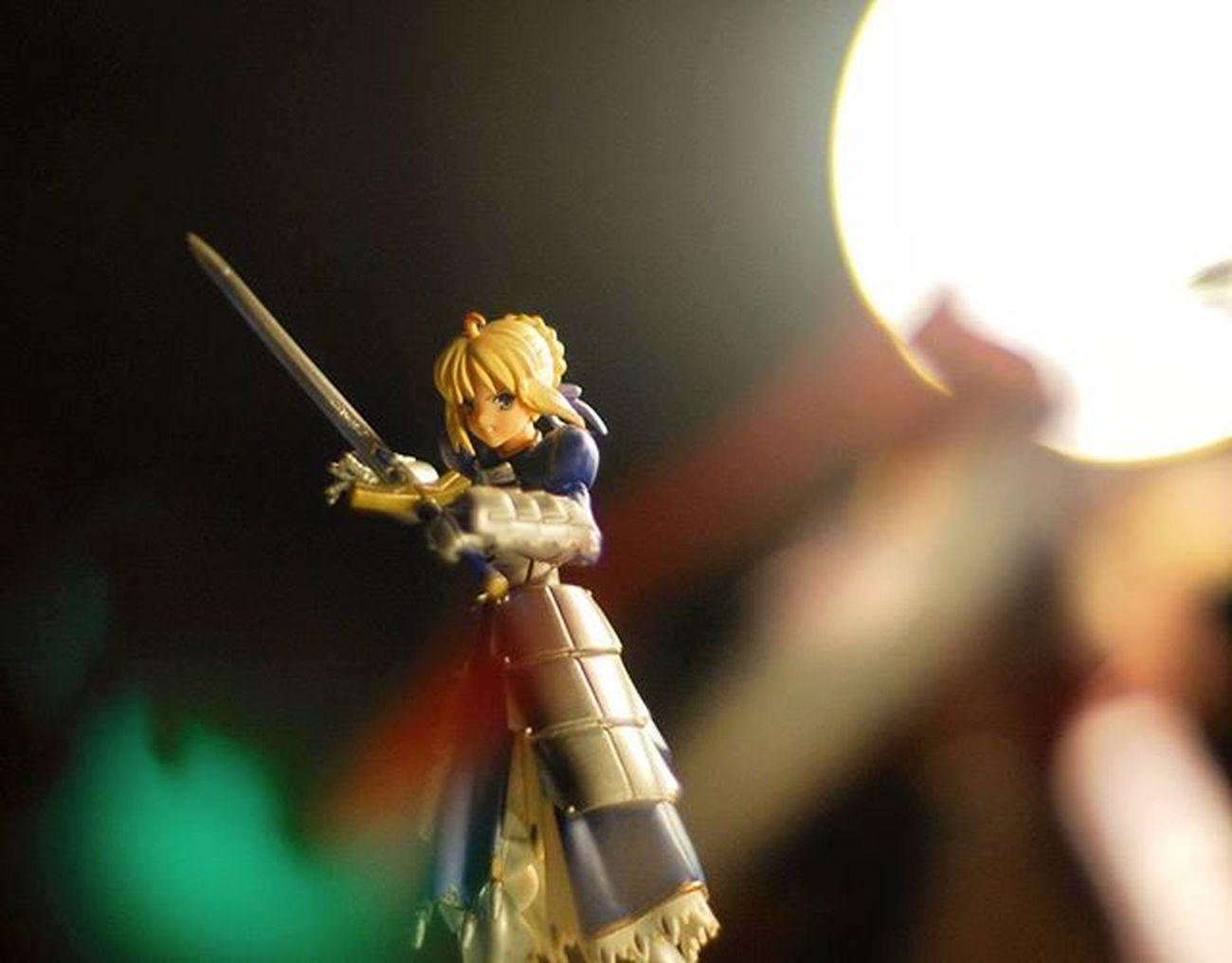 """""""Shiro!! The grail!!"""" Figma Saber FateStayNight Arturia Holygrailwar Fatestaynightunlimitedbladeworks"""