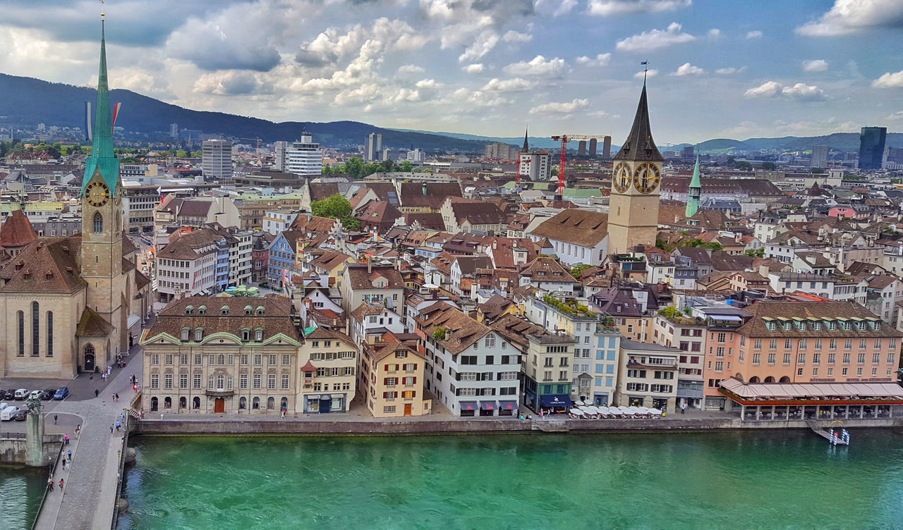 #architecture #buildings #City #cityscape #day #EyeEm #Lake #landscape #nikon #outdoors #river #Switzerland #travel #urban #Vacation #viewfromabove #zurich #zurich