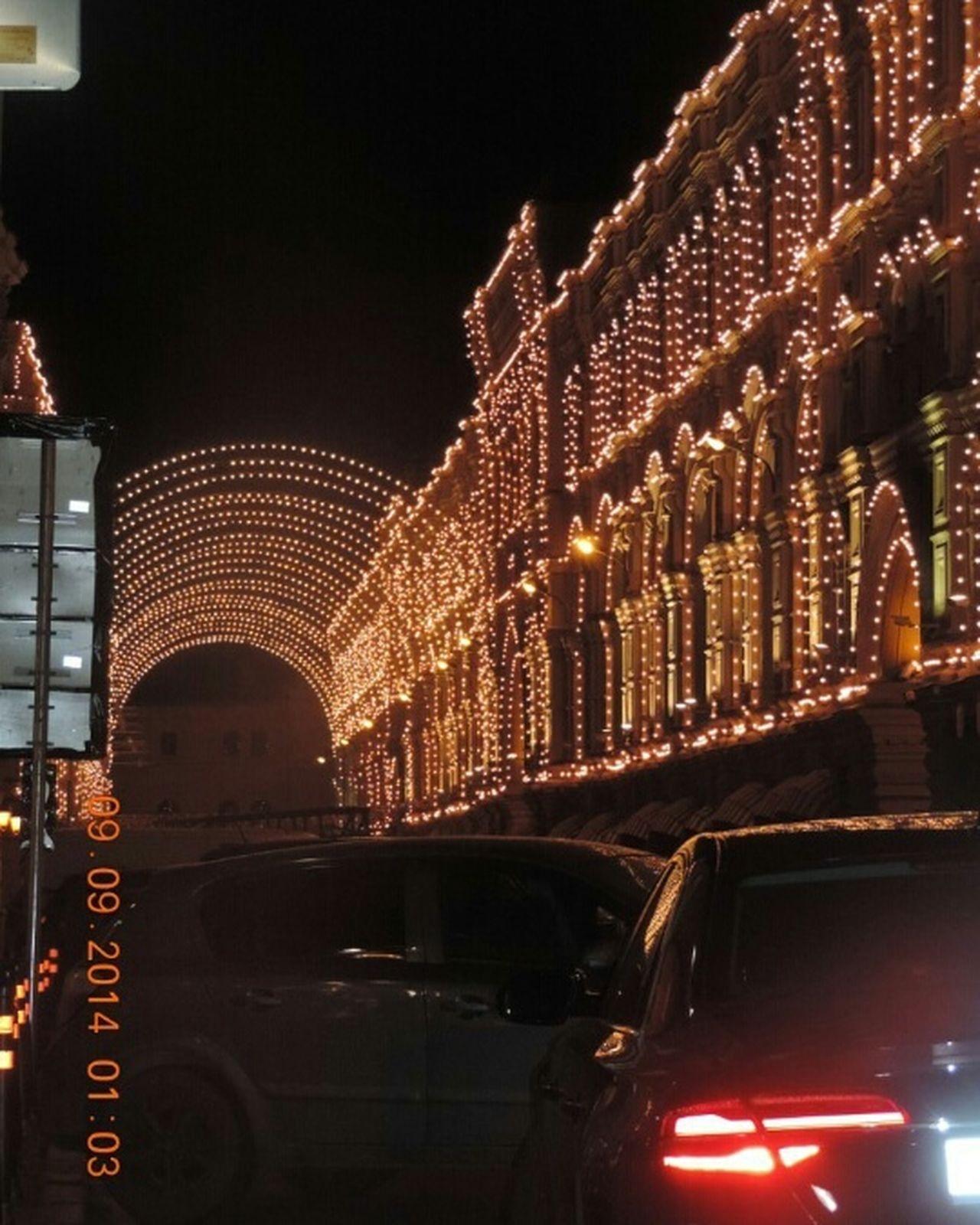 Night Illuminated Cityscape City Neon Москва москва russiaмосквагостиныйдвор москва