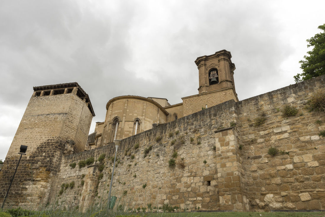 Estella Architecture Bell Tower Building Exterior Built Structure Camino De Santiago Cloud - Sky Day History Low Angle View No People Outdoors Place Of Worship Religion Road To Santiago Sky Spirituality