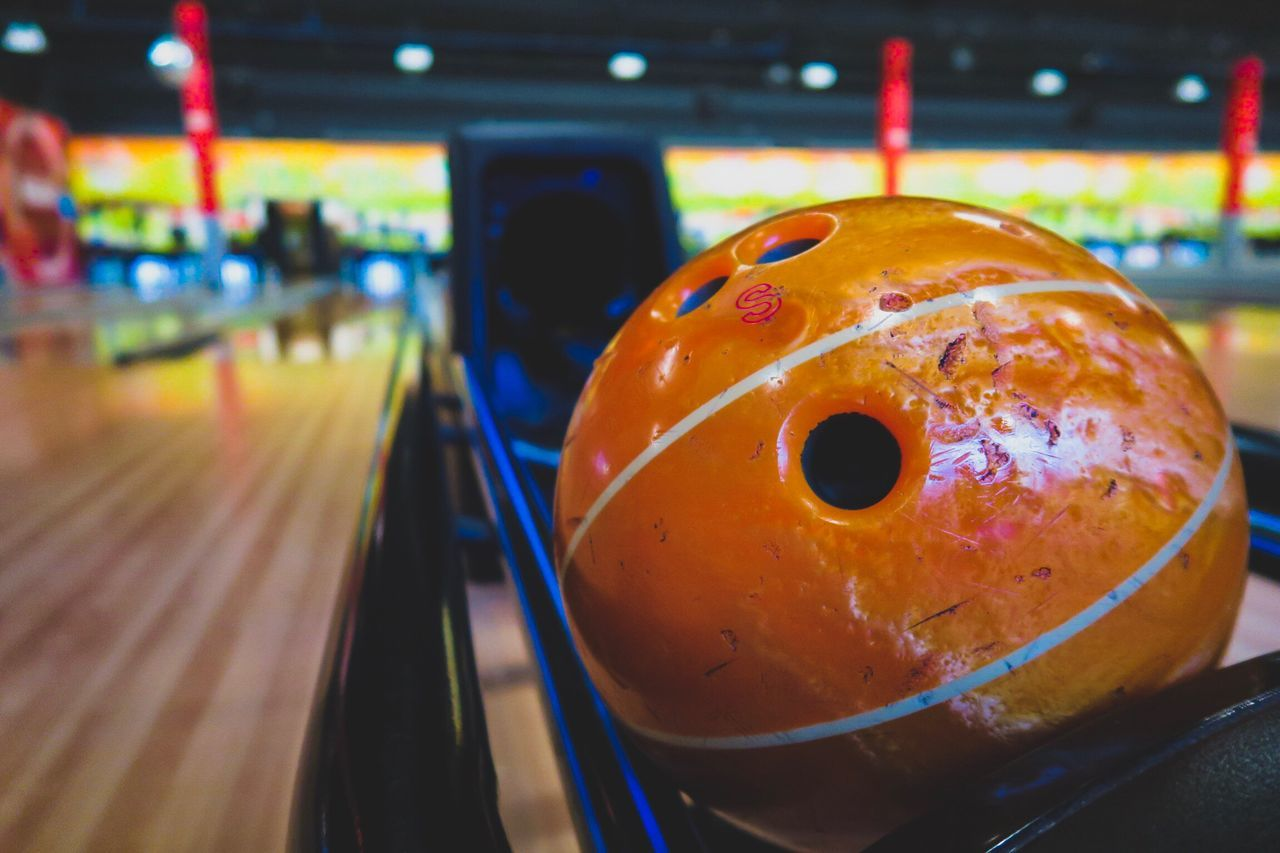 No People Close-up Bowling Alley Bowling Basketball Game Vibrant Color