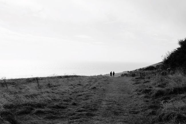 Monochrome Photography Unrecognizable People Reconnecting With Nature Countryside Walk Eastbourne Beachy Head Nature Photography Black And White Black And White Photography