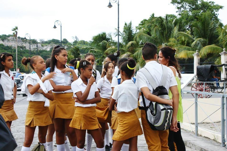 Children Scool Cuba Cuban People