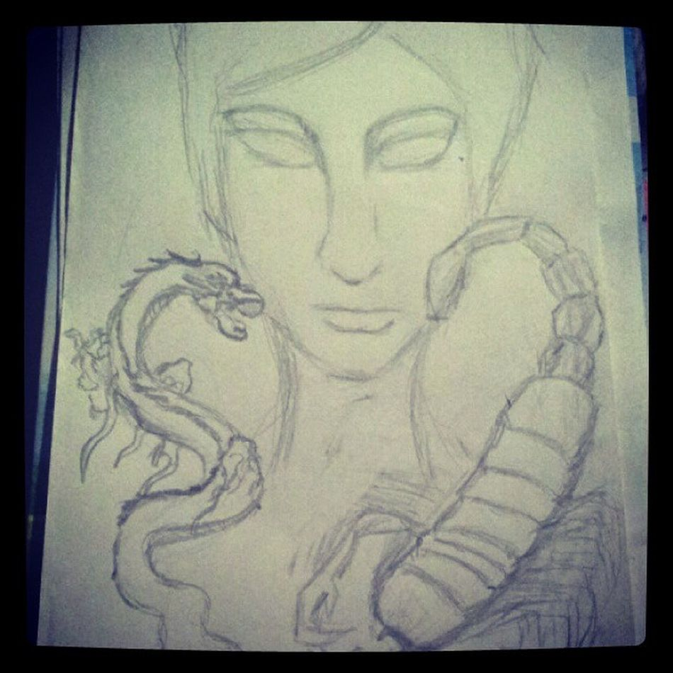 I'm The Real Dragon Scorpion ;) ♥ Art ArtWork Artist Illustration Drawing Draw Sketch Pencildrawing Pencil Workinprogress Dragon Scorpion Scorpio Dragonscorpion Dragonscorpio Fierce Mysterious True Truth November Zodiac Shio Love Watchout ♥ ;)