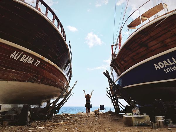 The adventures of Tintin Beach Boats Story Dog Girl Team Adventure RePicture Travel The Traveler - 2015 EyeEm Awards Capturing Freedom Adventure Buddies
