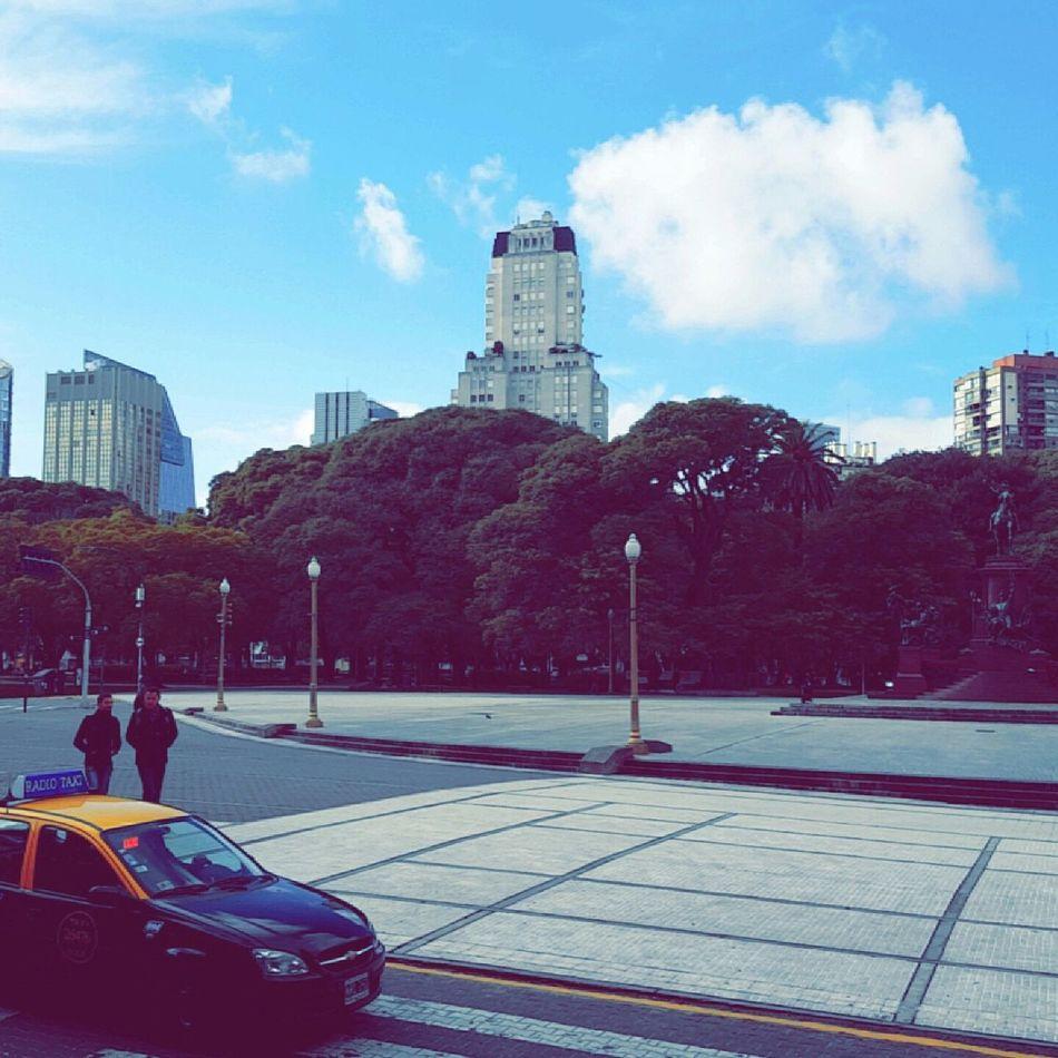 Plaza San Martín. Architecture Buenos Aires Buenosaires City Day Kavanagh Outdoors Plaza San Martin Plazasanmartin Sky Taxi Urban