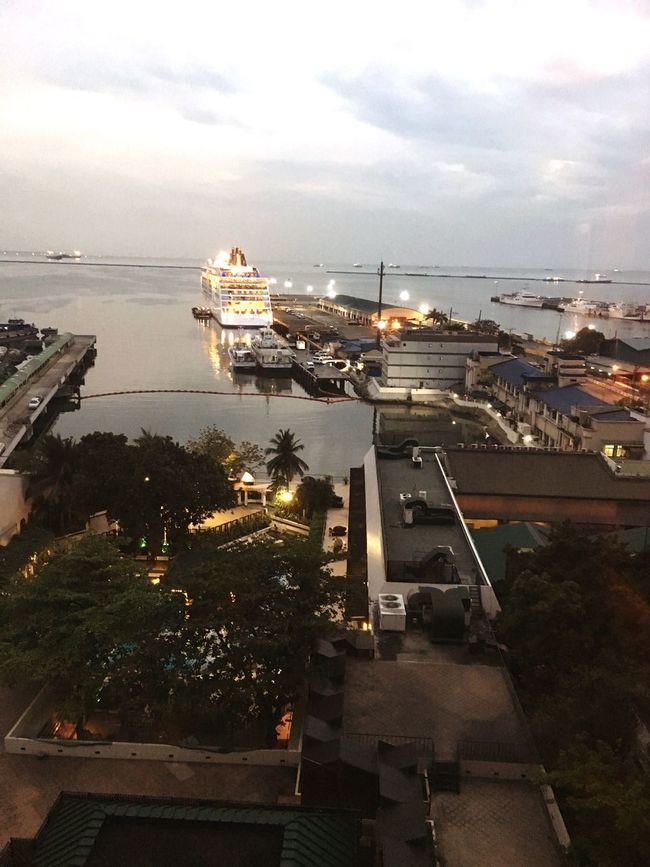 Seaview Manila Philippines Cruiseship Hotelroomview Harbor Harbourview
