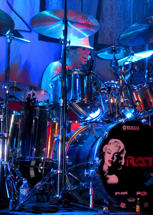 Blue Blue Wave Bobby Blotzer Close-up Drummer Illuminated Musician Ratt Rock And Roll