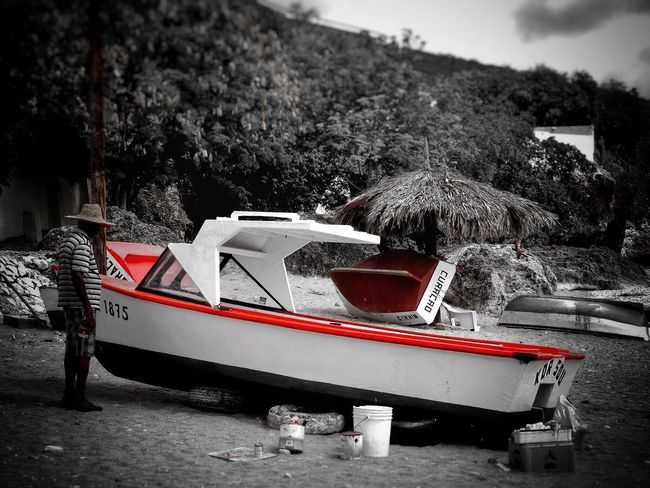 Monochrome Photography Boat Man Painting Transportation Fisherman Fishing Boat curacao Netherlands Antilles Caribbean Beach Caribbean Caribbean Island CARIBBEANLIFE Caribbean Fishing RASTA Rastaman