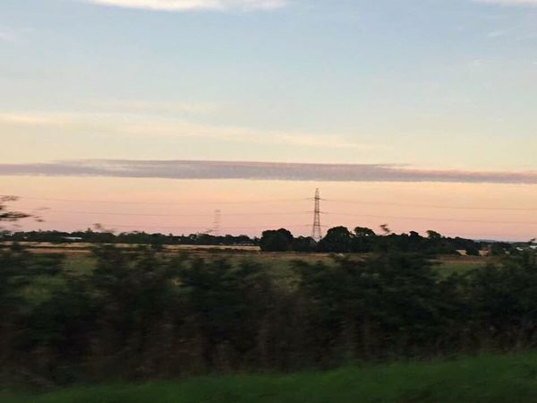 Landscape Outdoors Day Pylon Sky From The Road Beauty In Nature Cloud Sky And Clouds Pink Cloudscape