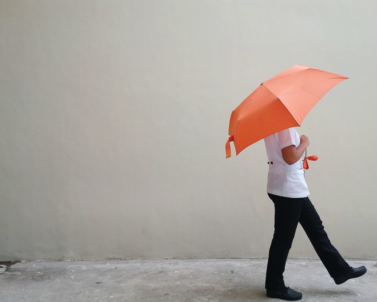 Ms. Mysterious. Umbrella Holding Protection Full Length Lifestyles Walking Casual Clothing Water Person Red Day Tranquility Orange Lights And Shadows EyeEm Best Shots Eyeem Philippines EyeEm Samsung Galaxy Camera Philippines Filipina