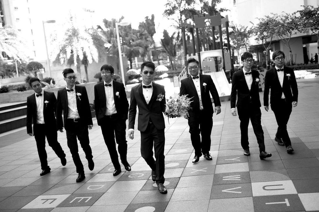 M.I.B. Hong Kong Check This Out Snapshots Of Life Agallery Taking Photos Photography Photographer Blackandwhite Light And Shadow Groom Wedding Day Weddingparty Wedding Photography Weddingphotographer Groomsmen MIB