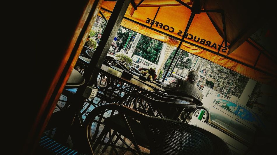 Waiting for her Indoors  No People Day Lebanon Coffee Coffee Shop Achrafieh Drama Shot  Winter Morning Tranquility Morningcoffee Oldman Flowers Waiting Alone Her Him Beirouth Beirut Beirout