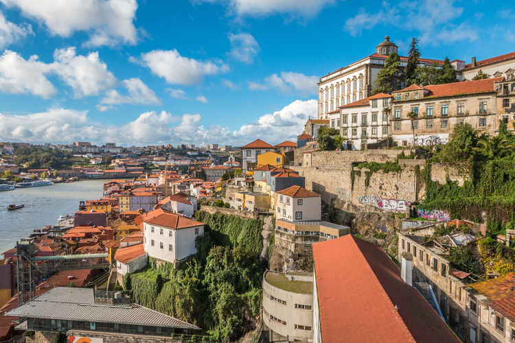 Nice view of Porto Architecture Building Exterior Built Structure City City Location Cityscape Cloud - Sky Community Day High Angle View House Nature No People Outdoors Porto Porto Portugal 🇵🇹 Residential  Residential Building Residential District Roof Sky Town Travel Destinations Tree Water