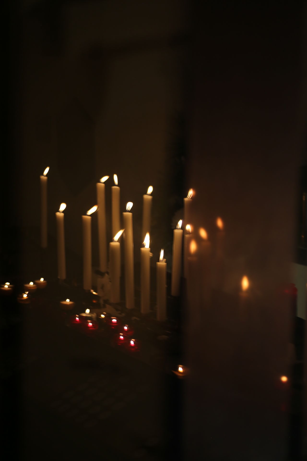 Burning Candle Flame Flickering Flickering Lights Glowing Heat - Temperature Illuminated Indoors  No People Worship
