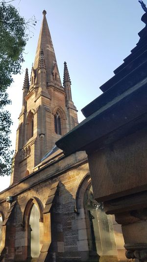 Architecture Built Structure Travel Destinations Building Exterior Sky No People Tower Place Of Worship Low Angle View Business Finance And Industry History Outdoors Day Streets Of Sydney Sydney, Australia St Pauls Darlunghurst