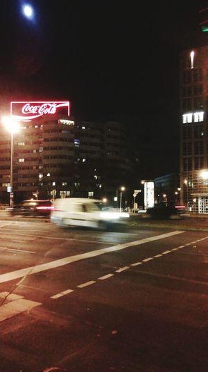 Spittelmarkt Berlincity Potsdamerstraße Streetlights Berlinatnight Coca Cola Advertisement Eastberlin Urban Reflections