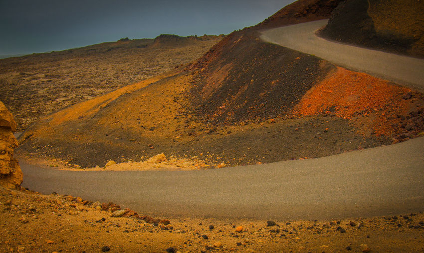 Ground Colors Lanzarote-Canarias On The Road ! Beauty In Nature Geology Nature Tranquility Volcanic Island